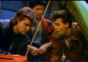 Deluise, Nguyen, and Depp bonding over car repairs.