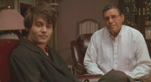 Uncle Leo Sweetie (Jerry Lewise) and Axel (Johnny Depp)