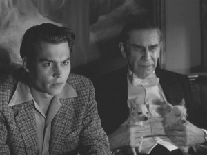 Johnny Depp and Martin Landau as Wood and Lugosi.
