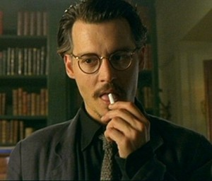 Mind if I smoke? - Depp as Dean Corso in The Ninth Gate