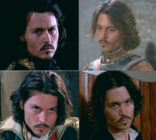 The many brooding stares of Cesar (Johnny Depp) in the Man Who Cried (2000)