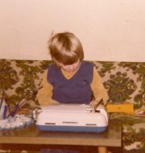 Portrait of the writer as a young man.
