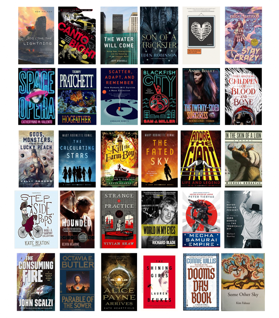 Grid of book covers from 2018